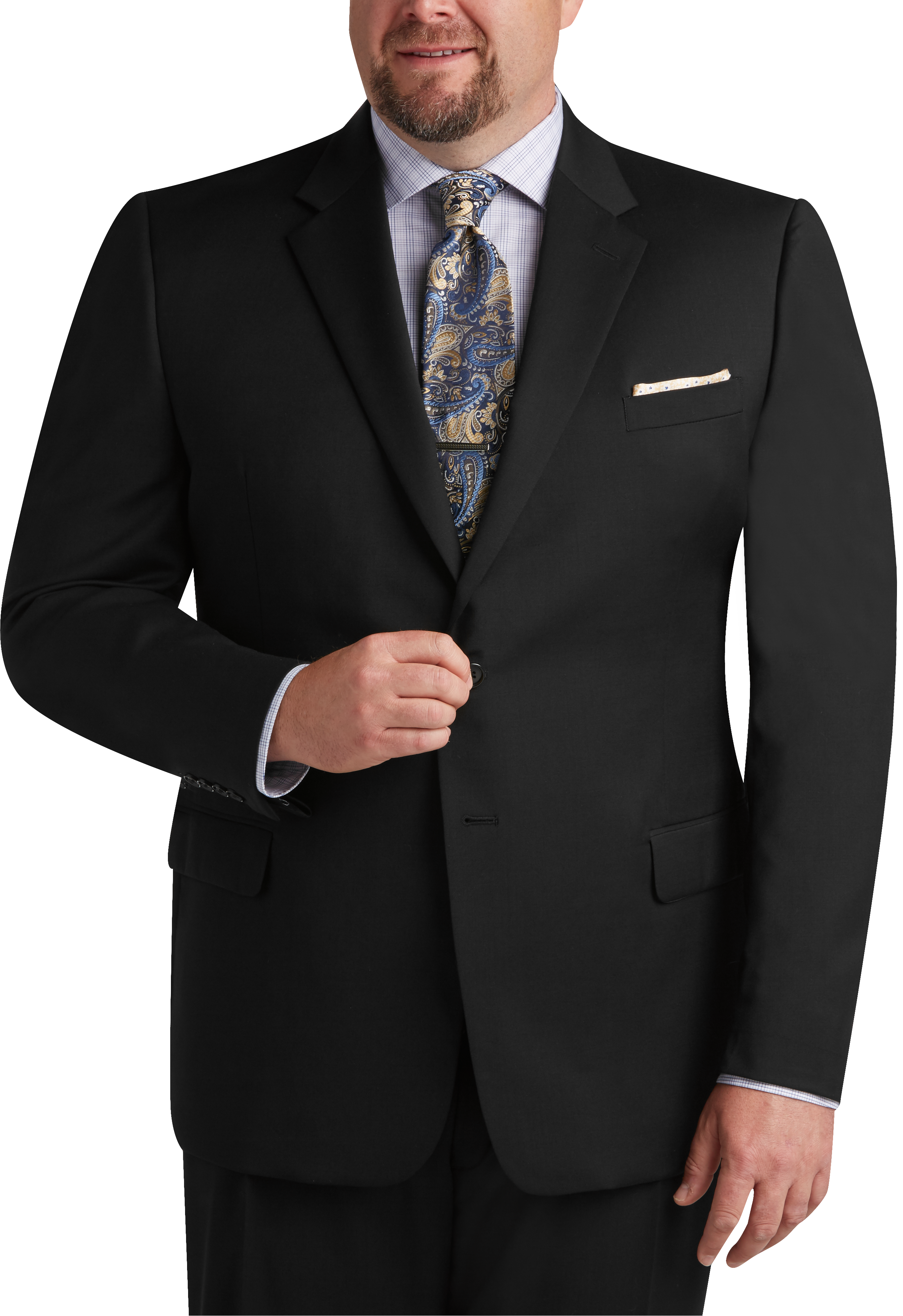 Joseph & Feiss Black Executive Fit Suit