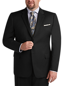 Joseph & Feiss Black Executive Fit Suit (Black / Charcoal)