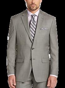 5d1e24a798a3 Mens Suits, Big & Tall - Lauren Classic by Ralph Lauren Gray Windowpane  Classic Fit