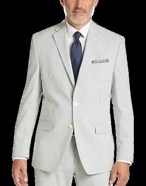 Seersucker Suit - Blue Stripe Summer Suit - Lauren by Ralph Lauren ...