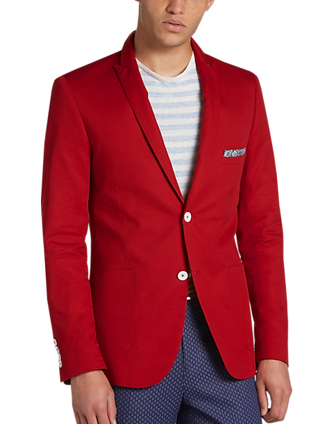 Red Slim Fit Suit 6KG4