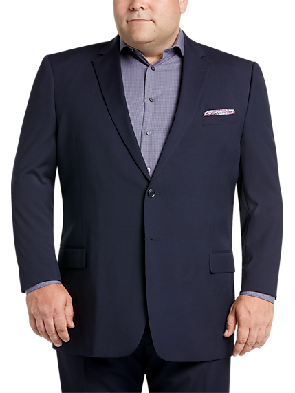 Pronto Uomo Navy Stripe Suit Portly 10a617689c8