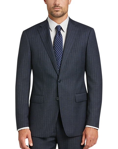 3295f9227 Calvin Klein Blue Stripe Slim Fit Suit - Men s Suits