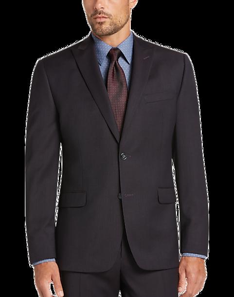 Calvin Klein Dark Wine Slim Fit Suit - Men's Slim Fit | Men's ...