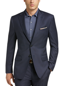 b4e974bd8 Mens Clearance, Big & Tall - Joseph Abboud Navy Plaid Modern Fit Suit -  Men's