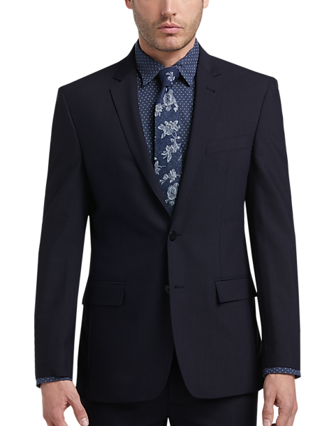 81923a05 JOE Joseph Abboud Blue Tic Slim Fit Suit