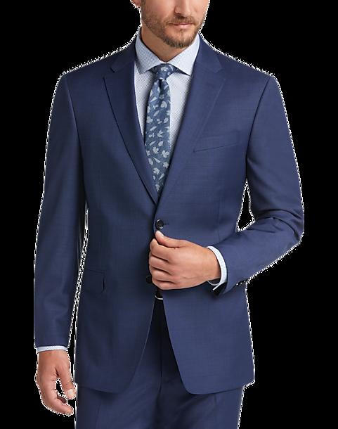 Tommy Hilfiger Blue Slim Fit Suit - Men's Suits | Men's Wearhouse