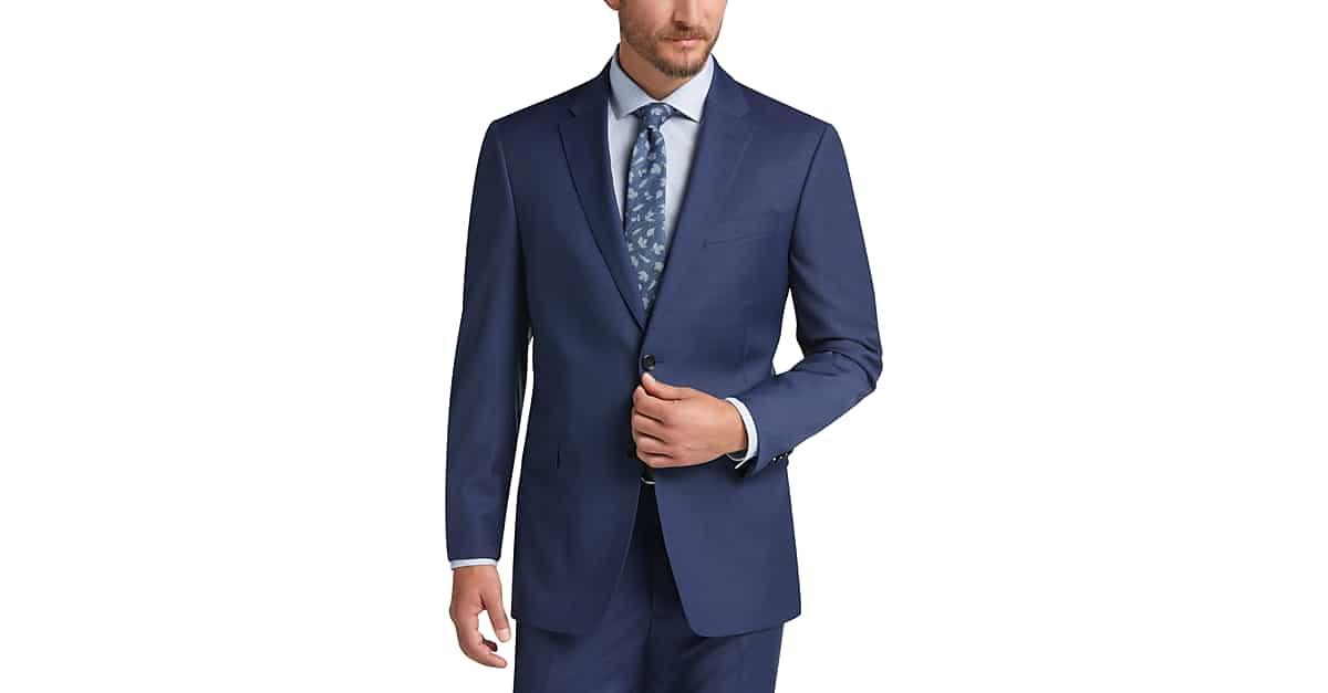 642528e3ea6439 Tommy Hilfiger Blue Slim Fit Suit - Men's Suits | Men's Wearhouse