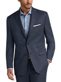 a93b951241 Mens Clearance - Lauren by Ralph Lauren Navy Modern Fit Suit - Men's  Wearhouse