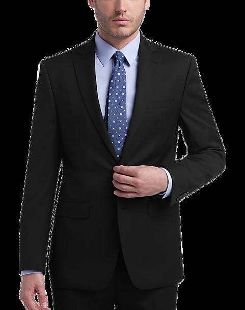 618b08c8a42d Calvin Klein Black Stripe Slim Fit Suit - Men's Suits | Men's Wearhouse