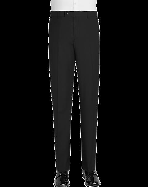 931da305563a6c Paisley & Gray Black Slim Fit Formal Pants - Men's Suits   Men's ...