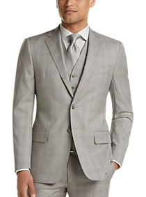 b8c73e2e Mens Clearance - Joseph Abboud Gray Plaid Slim Fit Vested Suit - Men's  Wearhouse