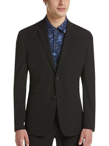Perry Ellis Premium Black Extreme Slim Fit Tech Suit