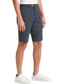 d7c5085e4 Mens Clearance - Paisley & Gray Slim Fit Suit Separates Shorts, Navy &  White Polka