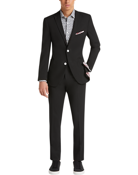 Paisley & Gray Slim Fit Suit Separates Coat (Black Solid)