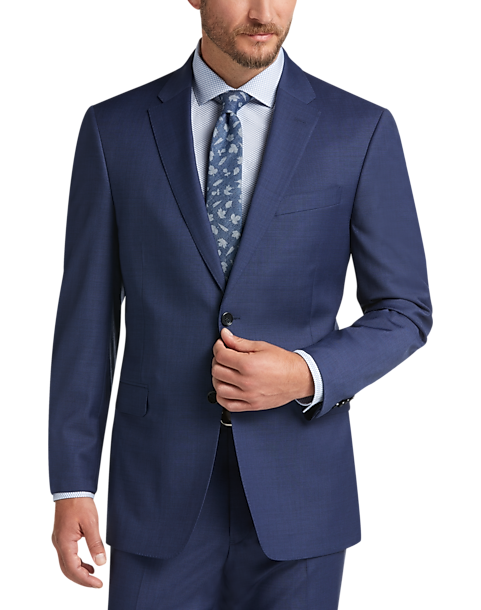 9104fa2a6 Tommy Hilfiger Blue Slim Fit Suit - Men's Suits | Men's Wearhouse