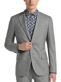 Mens Big   Tall - Joseph Abboud Freedom Light Gray Slim Fit Suit - Men s  Wearhouse aa5ef2d45