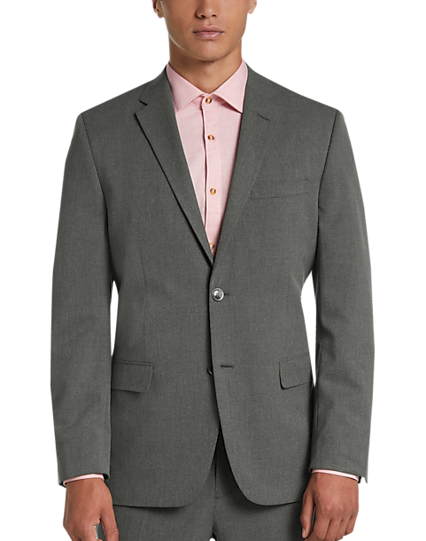Ben Sherman Gray Extreme Slim Fit Suit (Med Gray Solid)