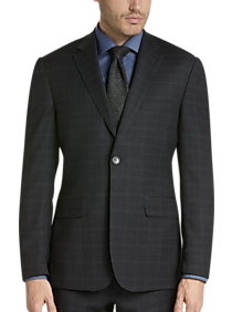 748d0113c61859 Mens Home - Awearness Kenneth Cole Charcoal Plaid Slim Fit Suit - Men's  Wearhouse