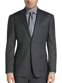 32f75be86ea Mens Big   Tall - Awearness Kenneth Cole Gray Tic Slim Fit Suit - Men s  Wearhouse