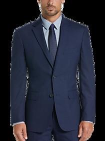 4d486f8d6 Mens Suits - Awearness Kenneth Cole Blue Check Slim Fit Suit - Men's  Wearhouse