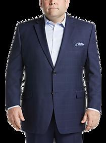 626823ee0d7206 Mens Home - Lauren by Ralph Lauren Blue Windowpane Plaid Executive Fit Suit  - Men's Wearhouse