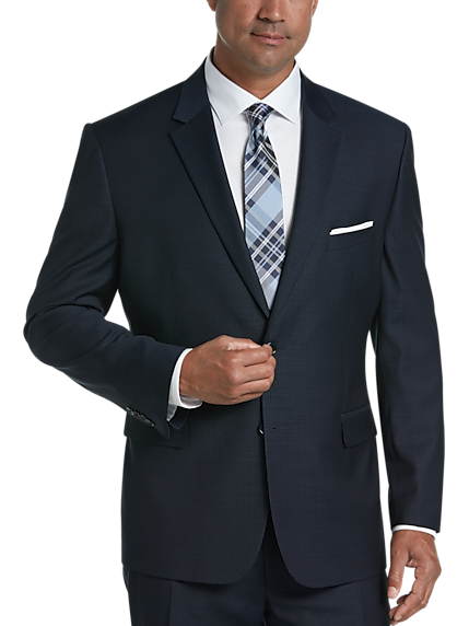 Pronto Uomo Navy Stripe Modern Fit Suit. 7d24d88e825