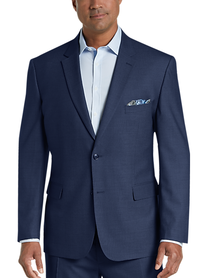 Pronto Uomo Blue Tic Stripe Modern Fit Suit 94f5986ec92