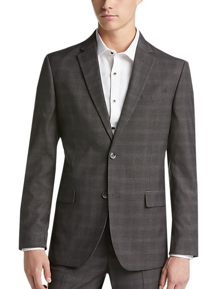 Gray Plaid Suit & Checkered Suit | Men's Wearhouse