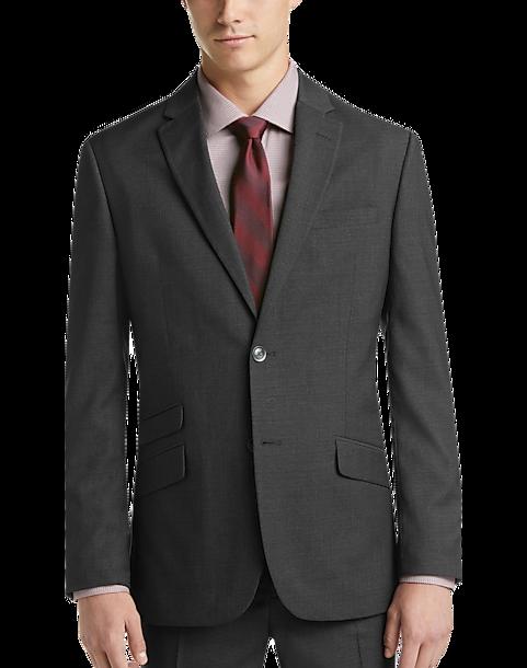 Ben Sherman Charcoal Gray Plaid Extreme Slim Fit Suit