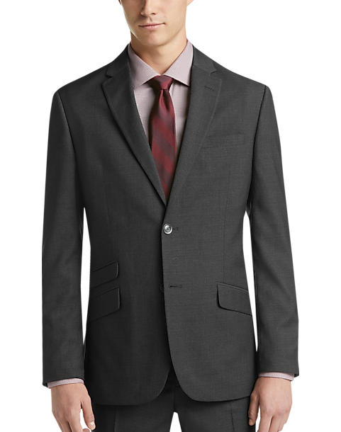 Ben Sherman Charcoal Gray Extreme Plaid Slim Fit Suit