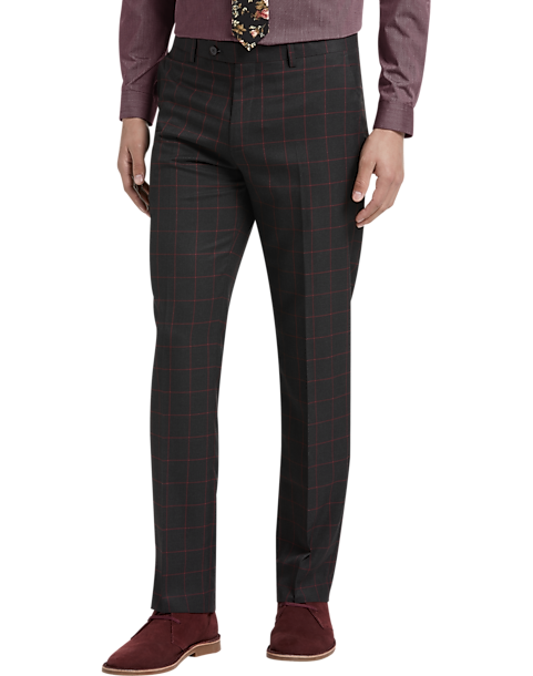 da531920285 Paisley   Gray Slim Fit Suit Separates Pants
