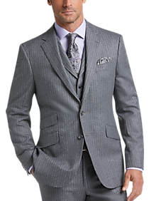 9b587f1b2fc Mens Big Deals - Joseph Abboud Limited Edition Gray Chalk Stripe Modern Fit  Vested Suit -