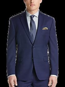 100% authentiek 100% kwaliteit gerenommeerde site Calvin Klein Navy Plaid Modern Fit Suit