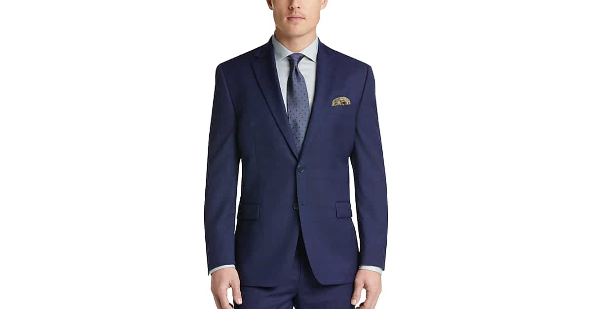 243e3032de9cd5 Calvin Klein Navy Plaid Modern Fit Suit - Men's Suits | Men's Wearhouse