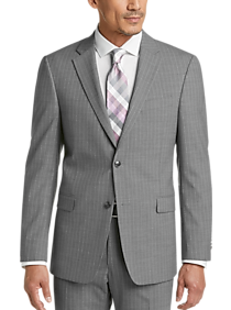 Tommy Hilfiger Gray Pinstripe Slim Fit Suit