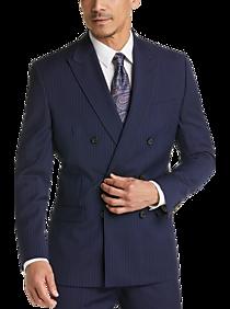 f8b0f76fb22 Mens Suits - Lauren by Ralph Lauren Navy Stripe Classic Fit Suit - Men s  Wearhouse