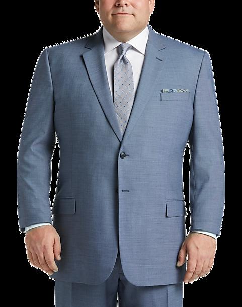 feffa2950ce6 Pronto Uomo Light Blue Sharkskin Executive Fit Suit - Men's Suits ...
