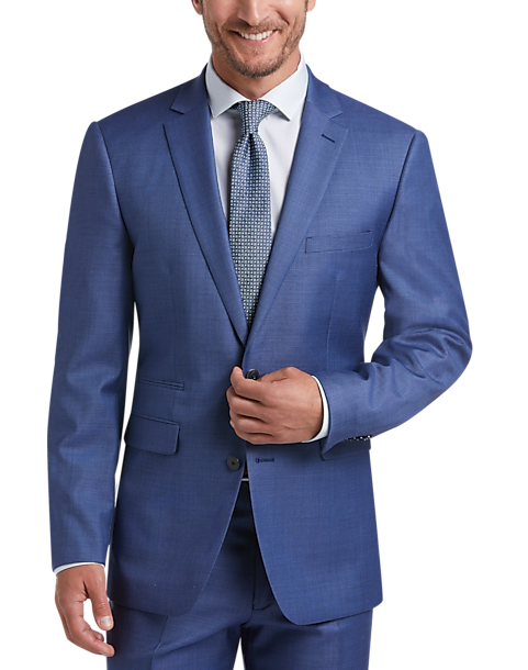 5a91aee1fe5 Vince Camuto Blue Sharkskin Slim Fit Suit - Men s Suits