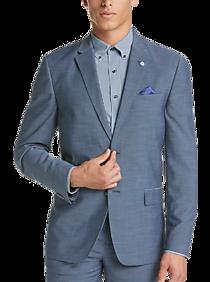 77decf86f59 Mens Sport Coats - Ben Sherman Blue Sharkskin Extreme Slim Fit Suit - Men s  Wearhouse