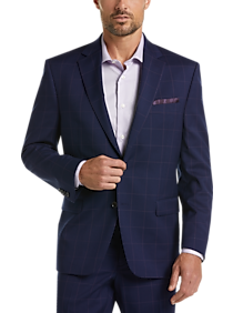 Ralph Plaid Navy Windowpane By Fit Classic Suit Lauren Nnwyv0Om8