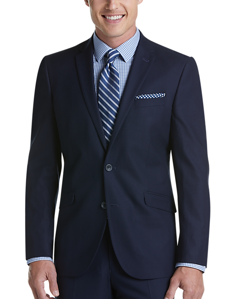 Kenneth Cole Reaction TECHNI-COLE Navy Check Slim Fit Suit