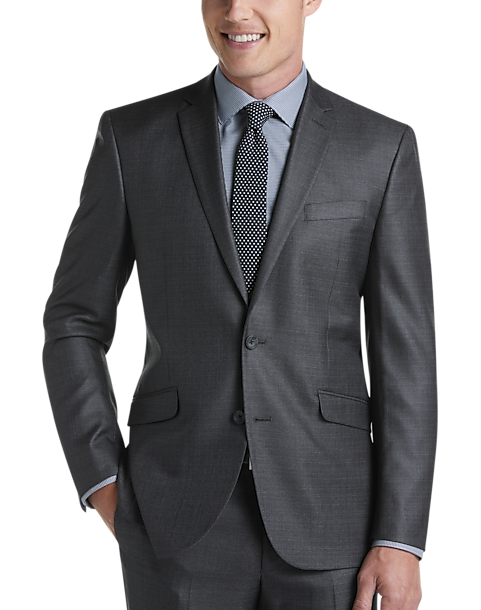 Kenneth Cole Reaction Techni-Cole Charcoal Slim Fit Suit
