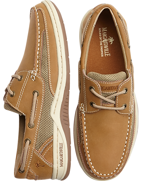 61c736f5b52 Margaritaville Anchor Tan Lace-Up Boat Shoes - Men s Shoes