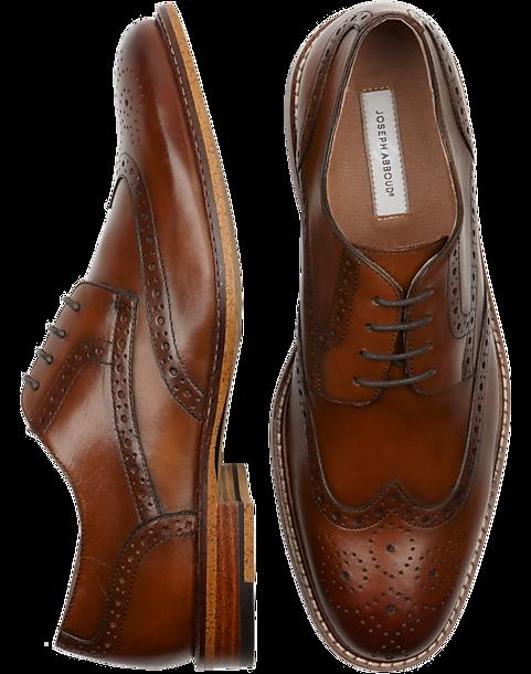 Joseph Abboud Greenwood Tan Wingtips - Mens Dress Shoes, Shoes - Men's  Wearhouse