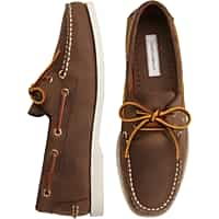 Deals on Joseph Abboud Eastman Brown Boat Shoes