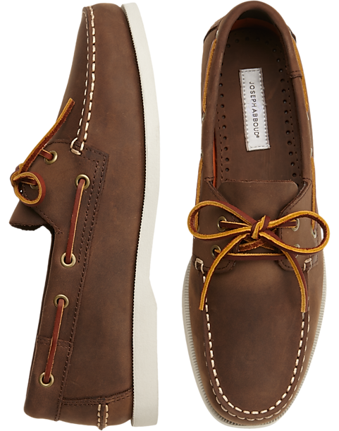 9a18cada000 Joseph Abboud Eastman Brown Boat Shoes