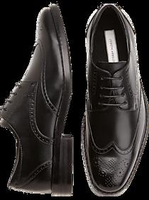 d506466ca39 Mens Home - Joseph Abboud Black Wingtip Lace-Up Shoes - Men s Wearhouse
