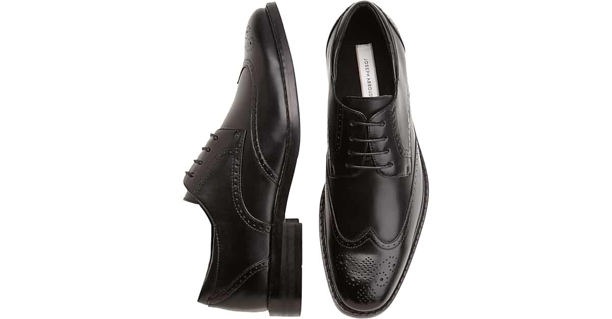 0fb2392b0c Joseph Abboud Black Wingtip Lace-Up Shoes - Men's Shoes | Men's Wearhouse