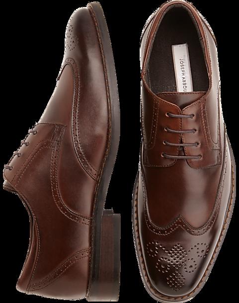 1519fe2e245 Joseph Abboud Brown Wingtip Lace-Up Shoes - Men s Loafers   Slip-Ons ...